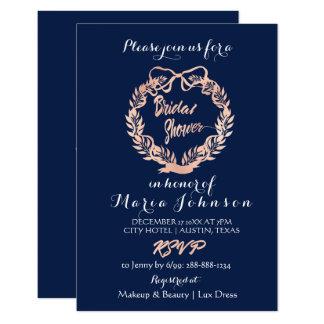 Cartão Do marinho floral da grinalda das azeitonas do chá