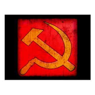 Cartão do martelo e da foice de URSS do comunismo Cartões Postais
