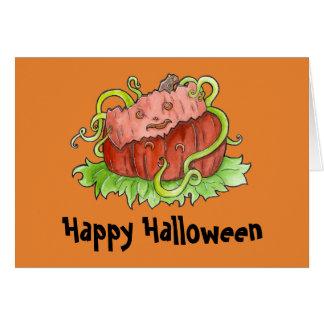 Cartão do mascarada da abóbora