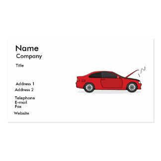 Cartão do mecânico cartão de visita