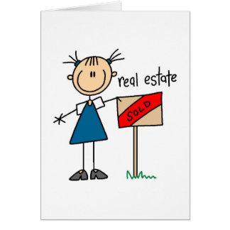 Cartão do mediador imobiliário