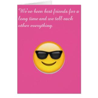 Cartão do melhor amigo
