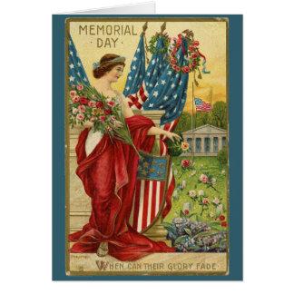 Cartão do Memorial Day do vintage