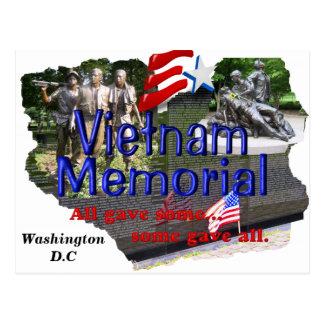 Cartão do memorial de Vietnam