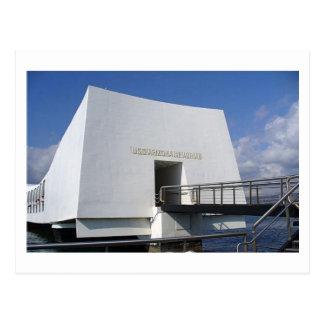 Cartão do memorial do Pearl Harbor