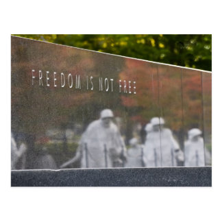 Cartão do memorial dos veteranos de Guerra da