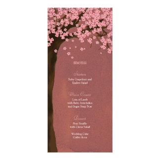Cartão do menu da aguarela de Sakura da flor de