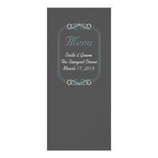 Cartão do menu da cerceta do quadro