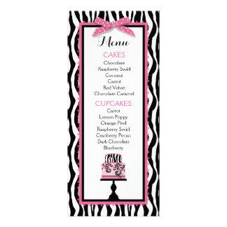 Cartão do menu da padaria do impressão e do bolo