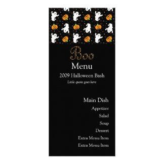 Cartão do menu da vaia do Dia das Bruxas 10.16 X 22.86cm Panfleto