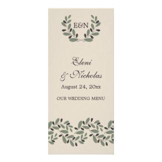 Cartão do menu do casamento da festão e da