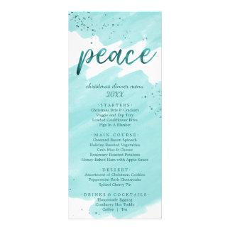 Cartão do menu do comensal de Natal da aguarela da
