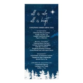 Cartão do menu do comensal de Natal da noite