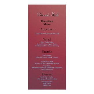 Cartão do menu do orçamento 10.16 x 22.86cm panfleto
