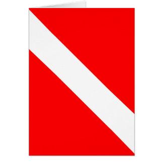 Cartão Do mergulhador bandeira clássica para baixo