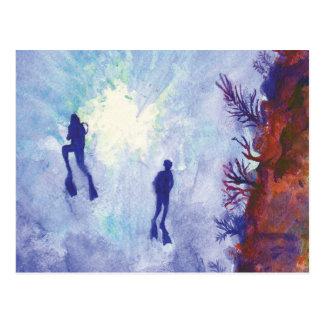 Cartão do mergulhador de mergulhador