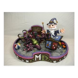 Cartão do Merlin-Em-UM-Box da DM