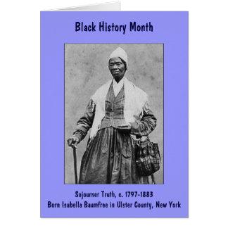 Cartão do mês da história do preto do ~ da verdade