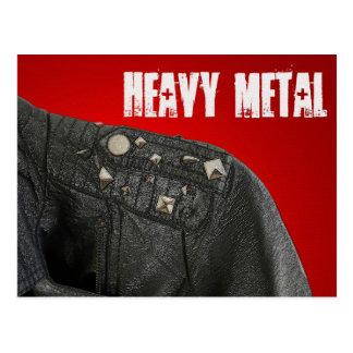 Cartão do metal pesado