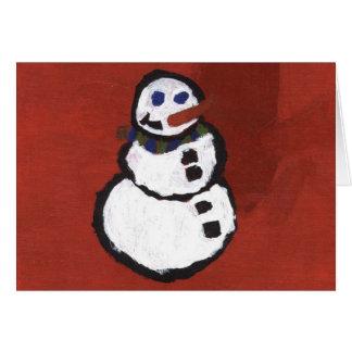 Cartão do miúdo do caleidoscópio - boneco de neve