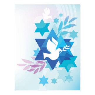 Cartão do modelo com símbolos judaicos cartão postal