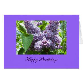 Cartão do modelo da foto da flor do aniversário do