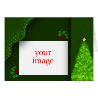 Cartão do modelo da foto do Natal