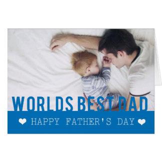 Cartão do modelo da foto do pai do mundo o melhor
