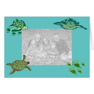 Cartão do modelo das tartarugas de mar