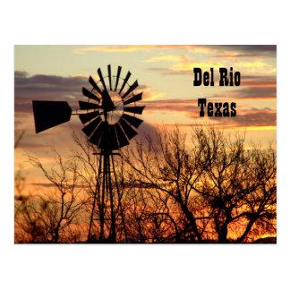 Cartão do moinho de vento de Del Rio Texas