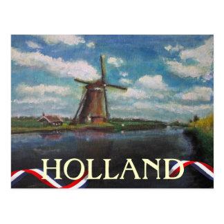 Cartão do moinho de vento de Holland