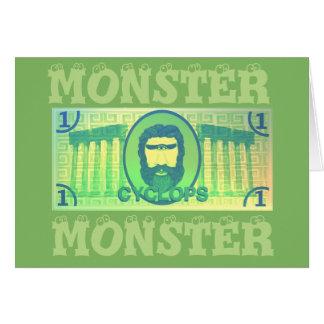Cartão do monstro dos Cyclops