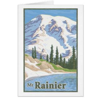 Cartão do Monte Rainier do vintage