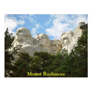 Cartão do Monte Rushmore