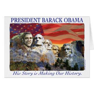 Cartão do Monte Rushmore da história do fazer de