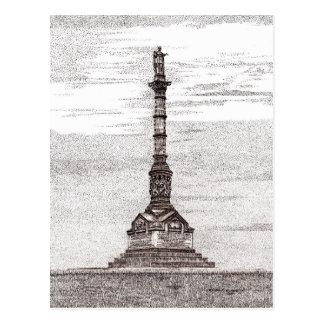 Cartão do monumento da vitória de Yorktown