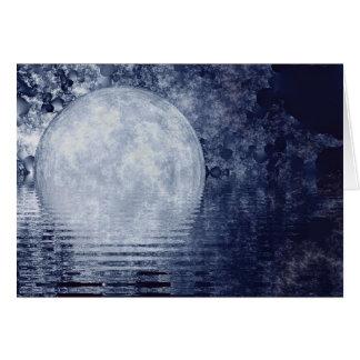Cartão do Moonrise da Via Láctea