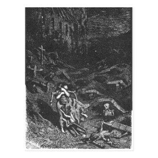Cartão do morto do cemitério