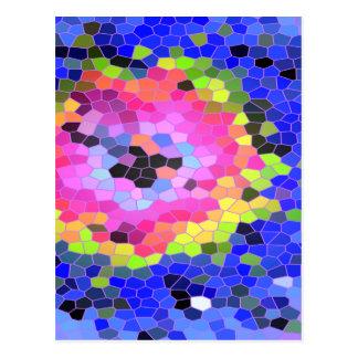 Cartão do mosaico cartões postais