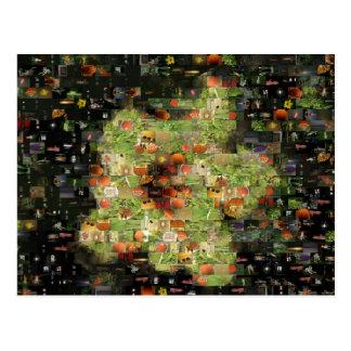 Cartão do mosaico da flor do hibiscus cartão postal