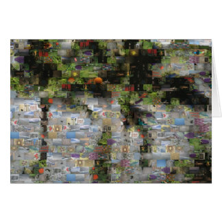 Cartão do mosaico da palmeira