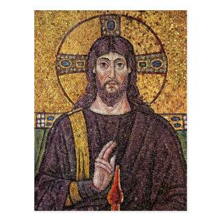 Cartão do mosaico de Jesus Cartão Postal