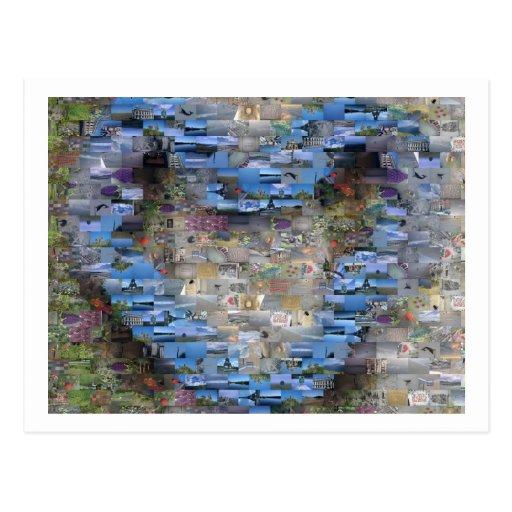 Cartão do mosaico do coração cartões postais