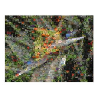 Cartão do mosaico do hibiscus cartoes postais