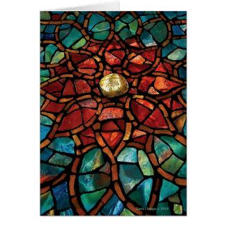 Cartão do mosaico do vitral boas festas