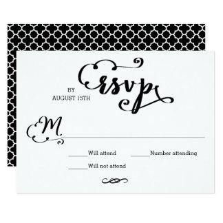 Cartão do Mosaico RSVP do roteiro do casamento