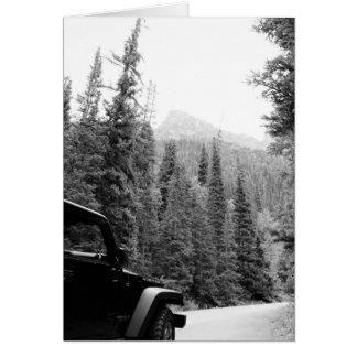 Cartão do Mountain View do jipe