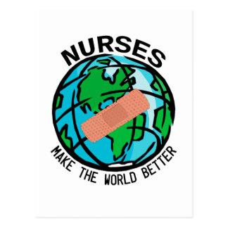 Cartão do mundo das enfermeiras
