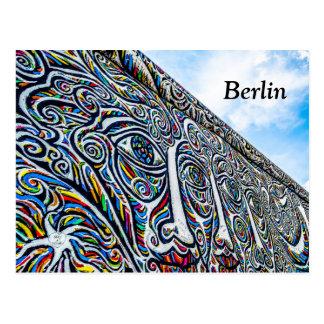 Cartão do muro de Berlim