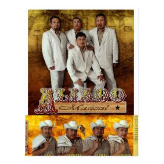 Cartão do Musical de Aliado Cartoes Postais